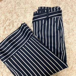 Banana republic flare pants with tie